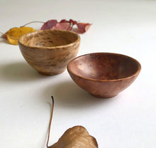 Load image into Gallery viewer, Pair of tiny hand-turned Australian timber bowls by Brad Moss