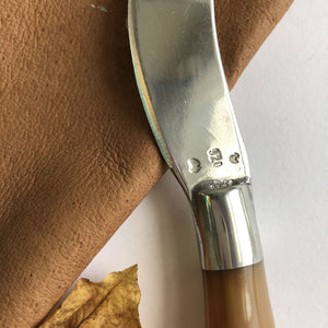 Horn and pewter pate knife by Ross Plant