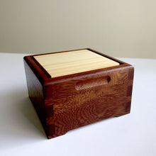 Load image into Gallery viewer, Rose mahogany and Huon pine 'Secrets' box by Col Hosie