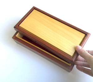 Rose mahogany and Huon pine 'Desktop' box by Col Hosie
