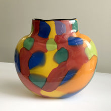 Load image into Gallery viewer, Multi-coloured glass vase by Maureen Williams