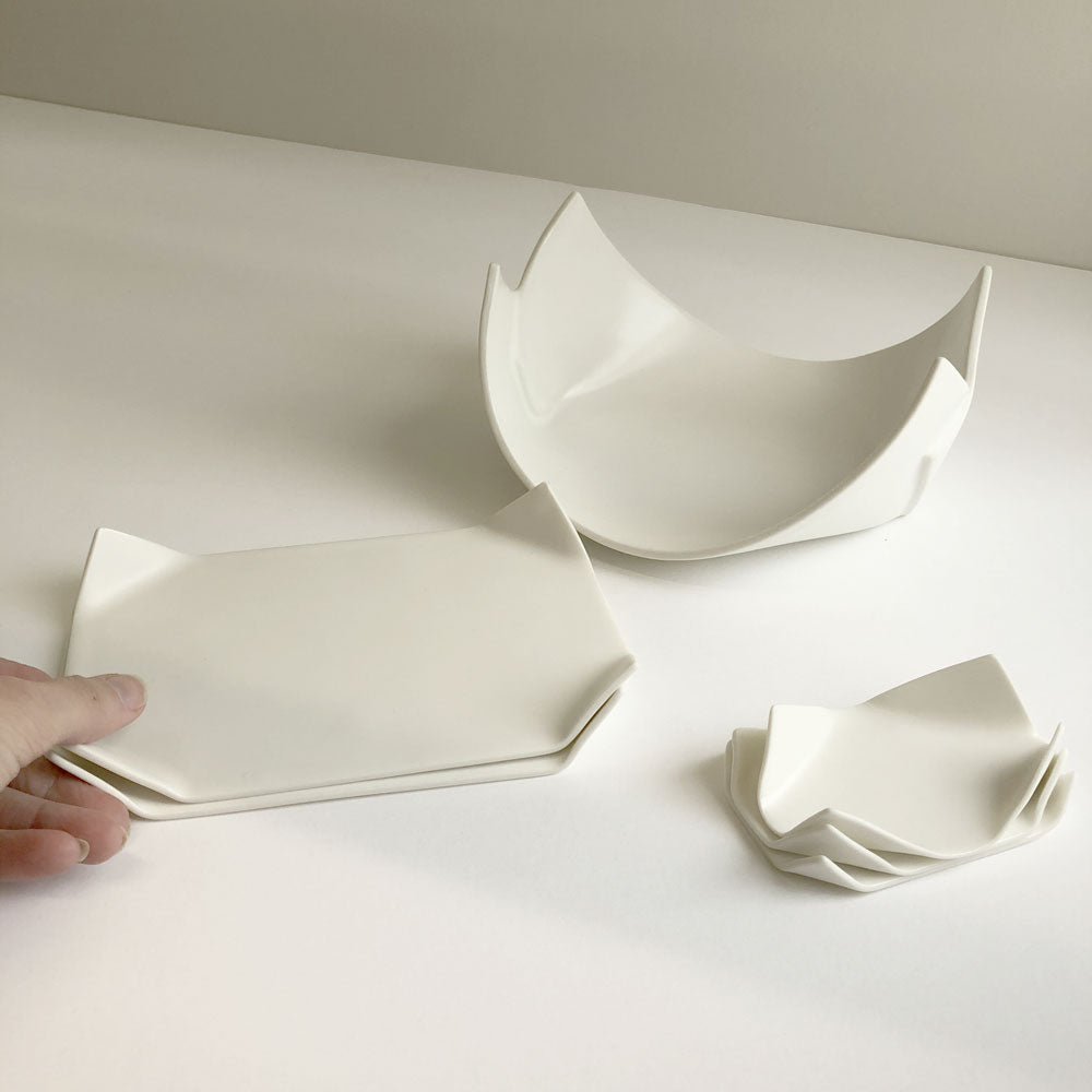 Porcelain 'Paper' series by Wayne Mcara