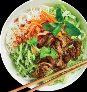 Grilled Marinated Beef Vietnamese Noodle Bowls