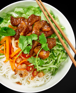 Grilled Marinated Chicken Vietnamese Noodle Bowls