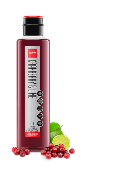 Shott Cranberry & Lime Syrup 1Lt