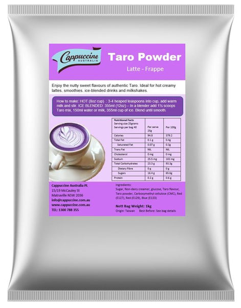 Taro Powder Latte/Frappe (1kg bag)