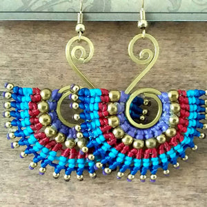 Fan earrings - Shop The Tweed Online Marketplace