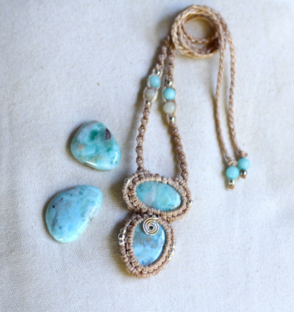 Larimar Macrame Necklace - Shop The Tweed Online Marketplace