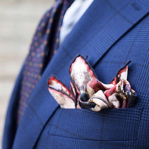 3 point puff fold pocket square