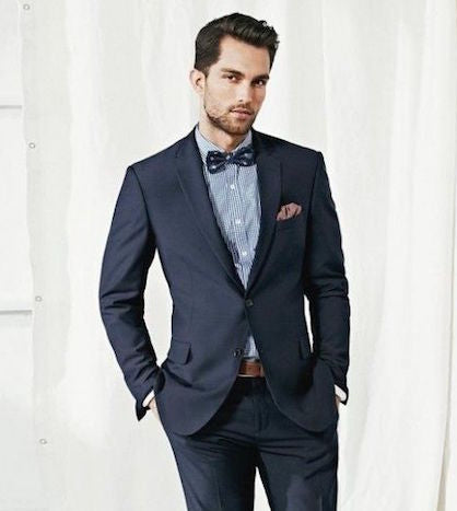 Bow tie with suit
