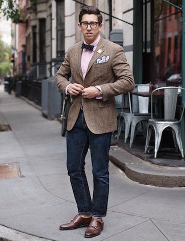 Tweed Jacket & Jeans