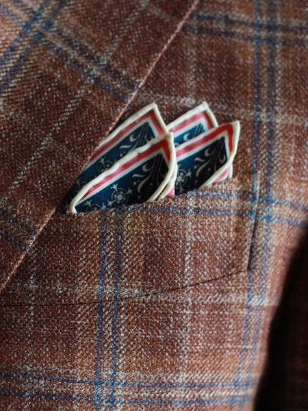 After the suit pocket square