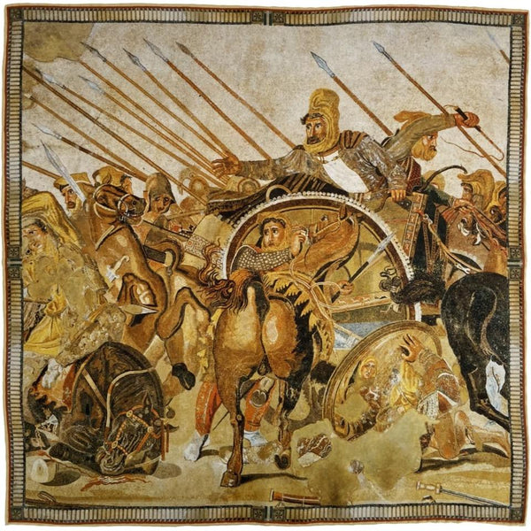 The Battle of Issus Mosaic Pocket Square
