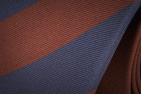 Brown Navy Silk Tie