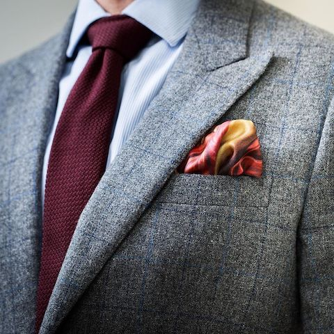 Knitted tie and pocket square