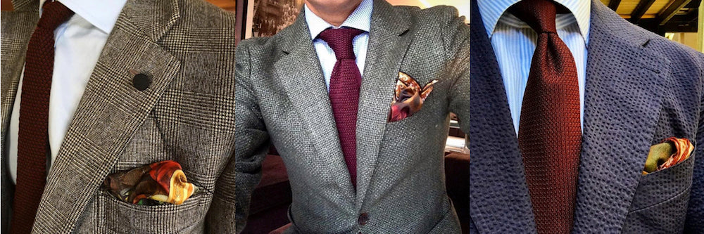 Burgundy and tie set