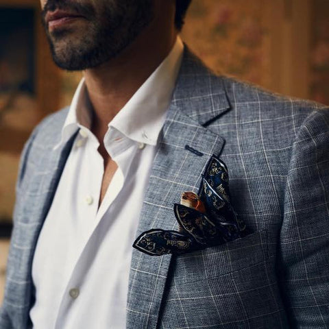 Casual jacket and pocket square