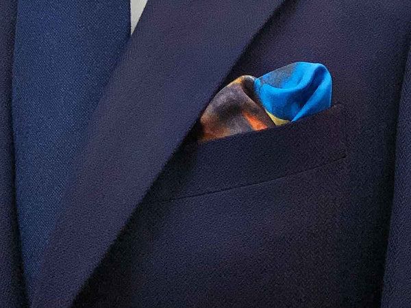 Fall of the Rebel Angels by Giordano Pocket Square Folds
