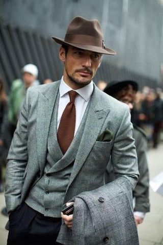 Fedora and suit