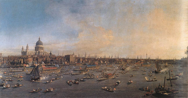 The River Thames With St. Paul's Cathedral On Lord Mayor's Day