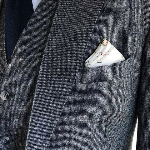 How to fold a pocket square for a wedding image 2