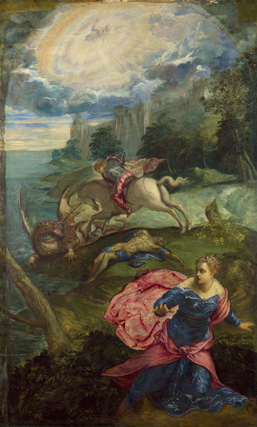 Tintoretto St George & the dragon