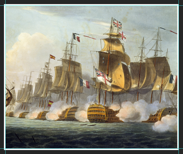 Battle of Trafalgar, October 21st 1805, from 'The Naval Achievements of Great Britain' by James Jenkins