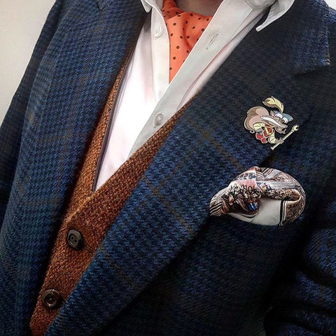 Matching pocket square to waistcoat