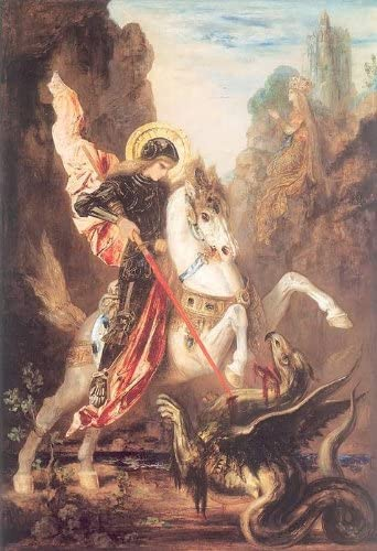 St George and the Dragon by Moreau