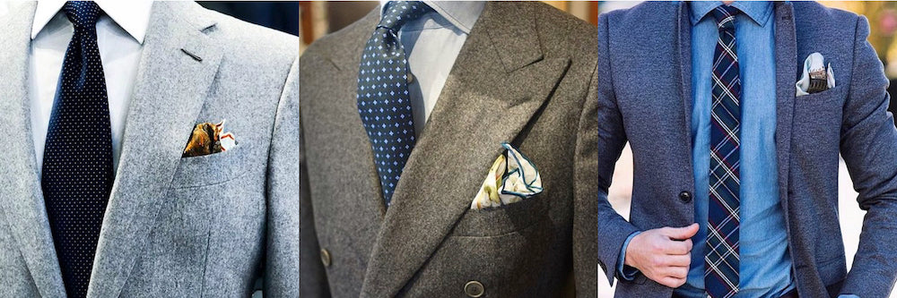 Navy tie and pocket square set