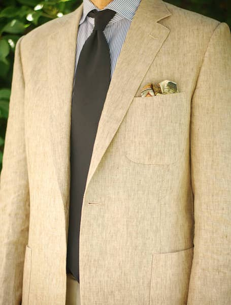 Patch pocket with pocket square