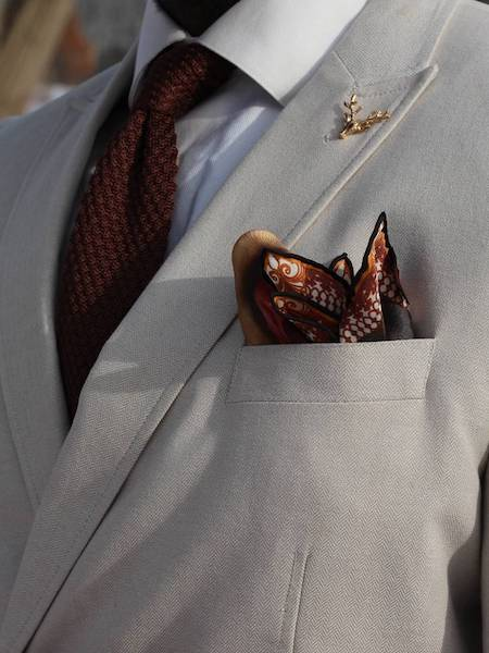 Pearl Jacket and Pocket Square