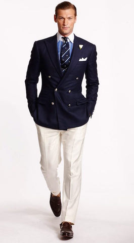 Blue Blazer Flannel Trousers