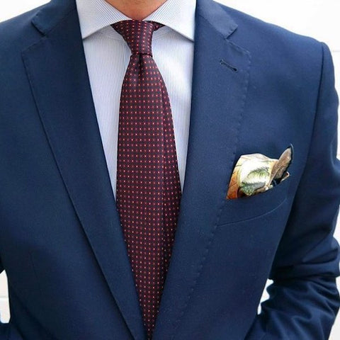 Rosette tie and pocket square