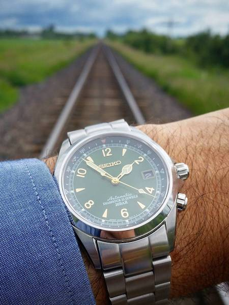 Seiko Alpinist Sunburst Green Watch