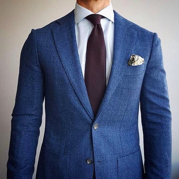 silk jacket lining navy