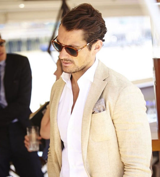 Linen Suit And Pocket Square