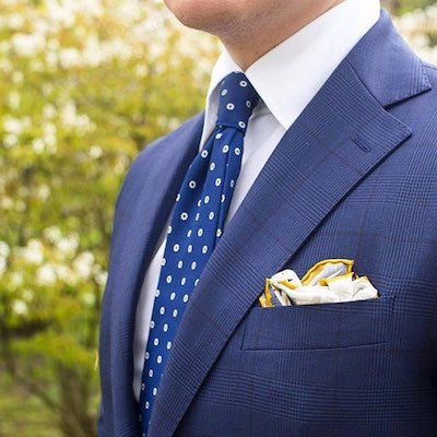 Kingfisher pocket square