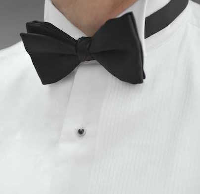 how to wear a bow tie with a winged collar