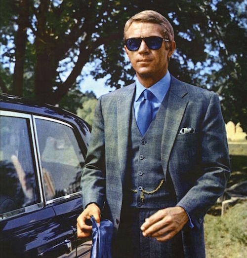 Steve McQueen Pocket Square