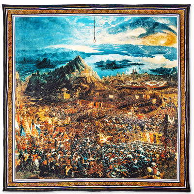 Battle of Alexander at Issus Pocket Square