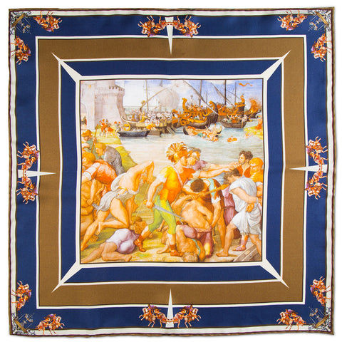 Battle of Ostia Pocket Square