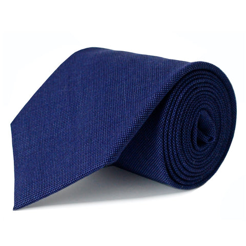 Royal Blue Pindot Merino Wool Tie