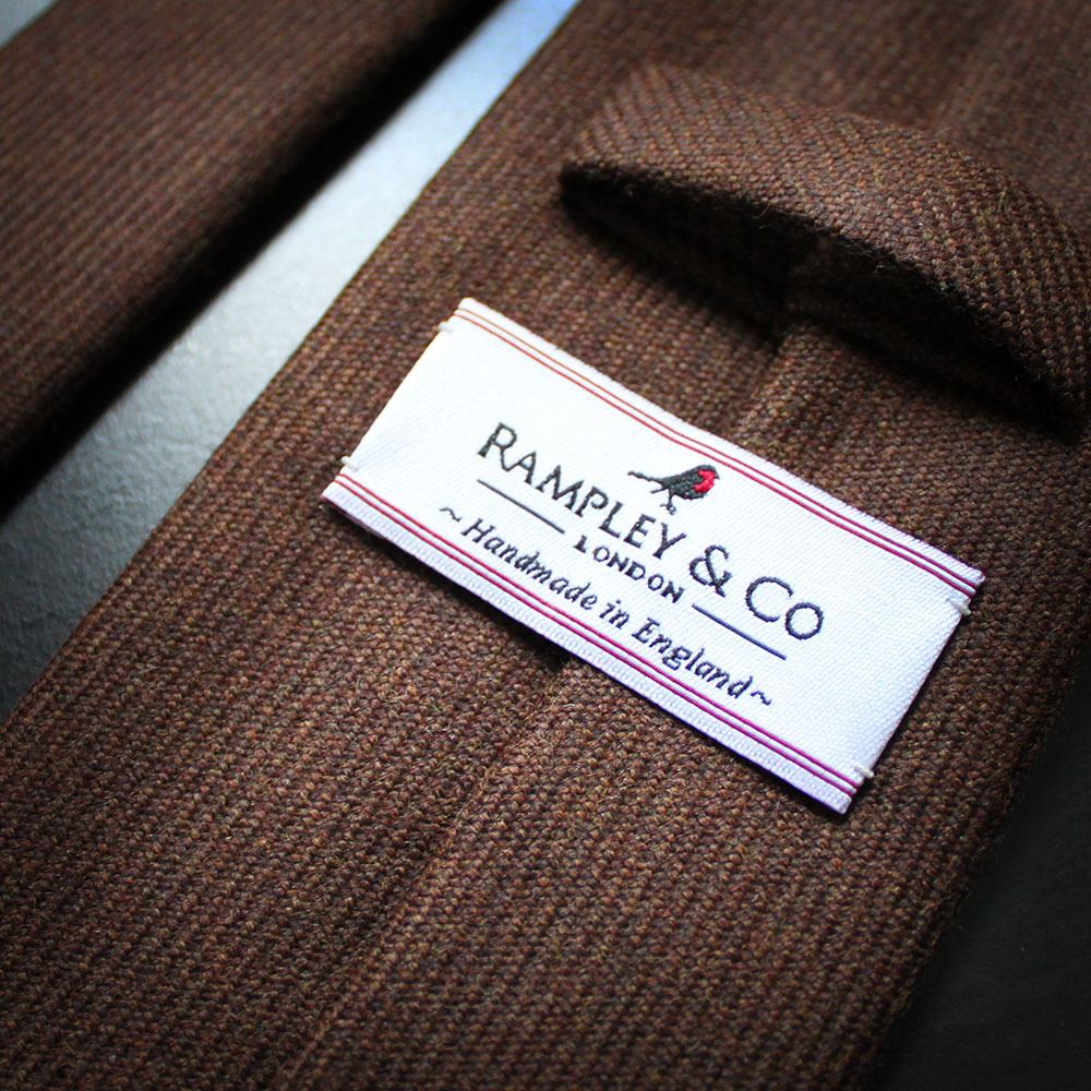 Navy and Red Check Wool Tie Rampley & Co j2KiURATSr