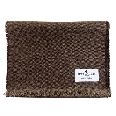 Brown Scabal Cashmere Scarf