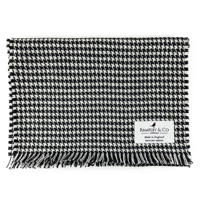 Classic Houndstooth Fine Merino Wool Scarf