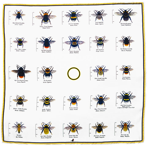 Country Life Bees Pocket Square