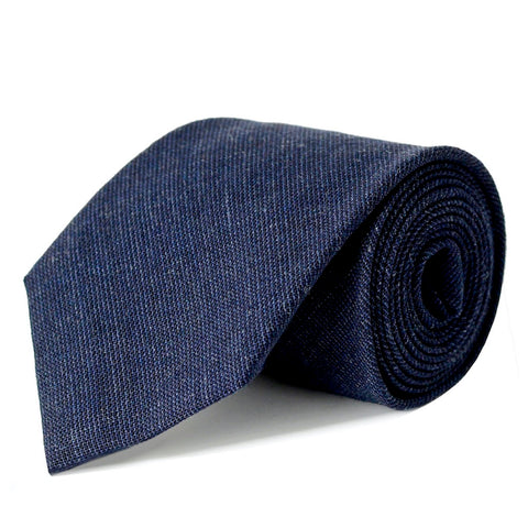 Dark Navy Pure New Wool Tie