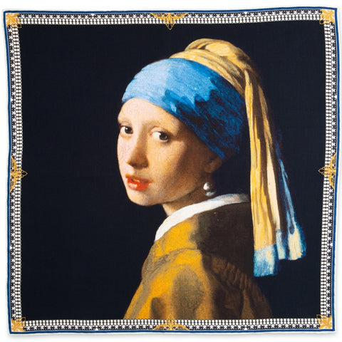 Girl with the Pearl Earring Pocket Square