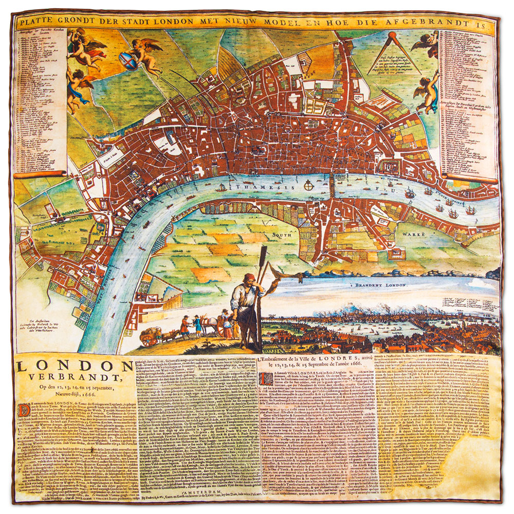 Great Fire Of London Map.The Great Fire Of London Rampley And Co
